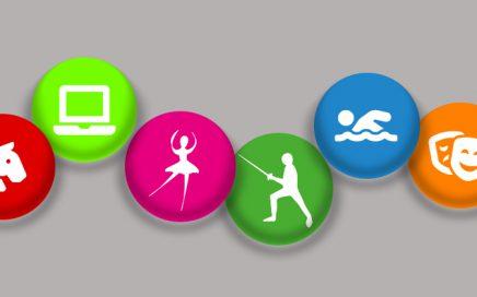Icone delle attività proposte dall'associazione